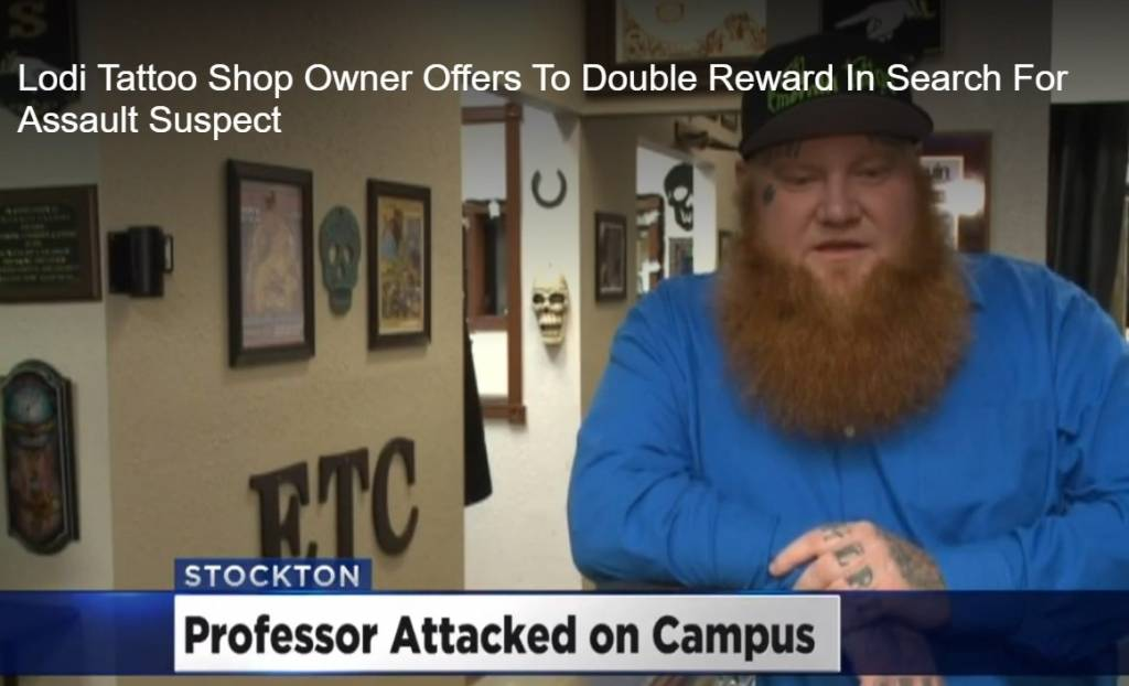 Lodi Tattoo Shop Owner Offers To Double Reward In Search For Assault Suspect